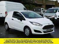 2013 FORD FIESTA VAN ECONETIC TDCI DIESEL VAN WITH ONLY 38.000 MILES,PARKING SEN