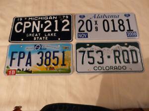 Plaques de voitures  USA