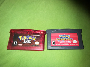 For sale pokemon video games bundle 25 each or both for $45.