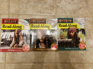Pirates of the Caribbean Books and CD's   $15