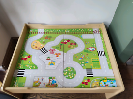 Woofer train track and table