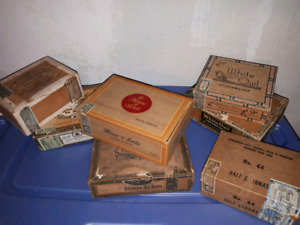 CIGAR BOXES FROM 30'S ,40'S AND 50'S