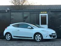 2010 RENAULT MEGANE 1.5 DCI COUPE DYNAMIQUE TOM TOM + PAN ROOF + ALLOYS + WHITE