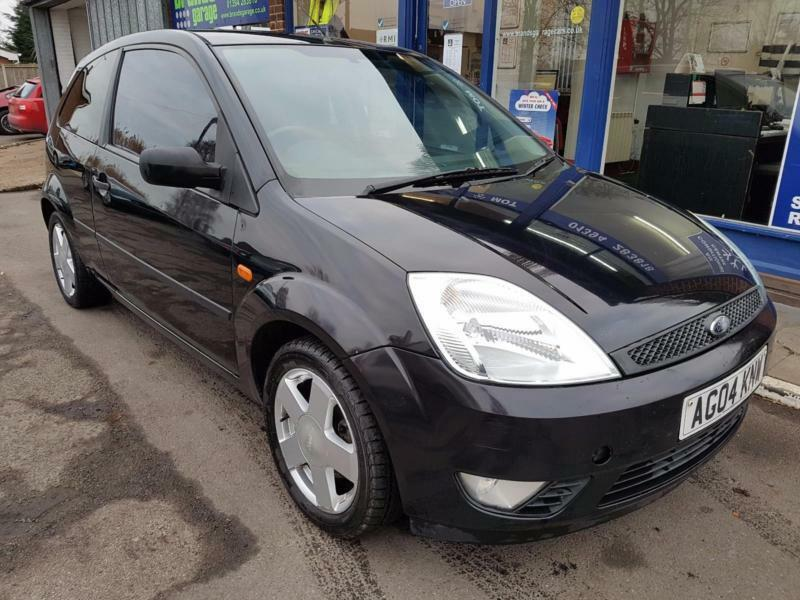 2004 FORD FIESTA 1.4 ZETEC 3 DOOR MANUAL PANTHER BLACK 116K