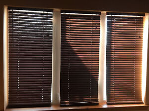 set of 3 Faux Wood Blinds