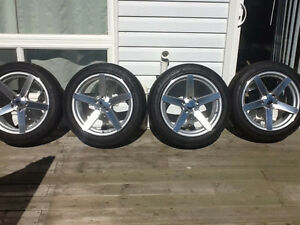 """New 18"""" VOSSEN reps with tires mint!!!"""