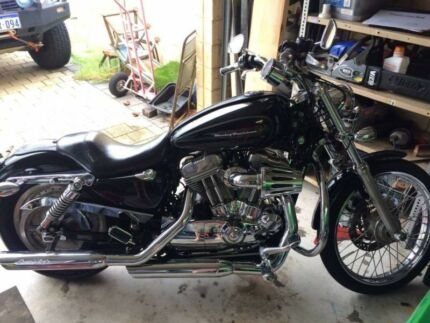 Swap Harley Sporter XL Custom for camper trailer
