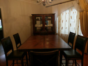 8 Piece Solid Wood Dining Set