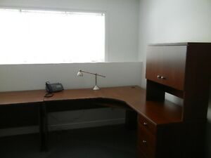 Three piece sectional desk
