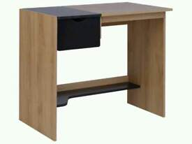 Office Storage Desk with Laptop Tray - Two Tone