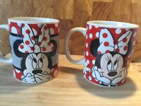 Pair of Disney Minnie Mouse Mugs.