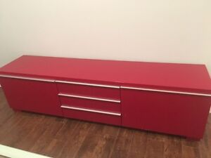 Contemporary Glossy finish Entertainment Stand