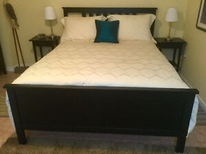 IKEA Bed with matching night tables