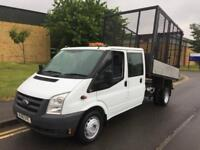 2011 Ford Transit 100 T350L D/C RWD Cage Caged Tipper Manual Tipper