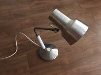 Vintage industrial table lamp bare metal 1001 not anglepoise