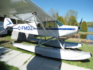 Piper PA-12/150 Super Cub on Floats (plus Wheels & Skis!)