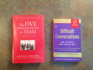 The 5 dysfunctions of a team & difficult conversations Cambridge Kitchener Area image 1