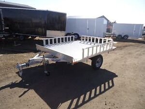 """Everlite 7'x 7'6"""" Deck over ATV trailer with Sides"""