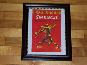 SPARTACUS - Stanley Kubrick Classic Film Poster - Framed Print!