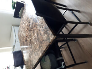 Table and chairs (counter height)