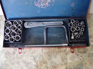 Socket Set (28 pieces) - Vintage Blackhawk, 1/2 Inch Drive,