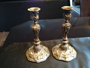 Solid vintage candle stick holders. London Ontario image 1
