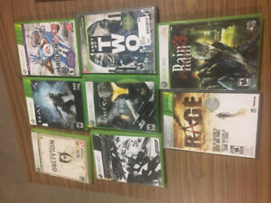 LOT OF 8 XBOX 360 GAMES ALL 8 FOR $20