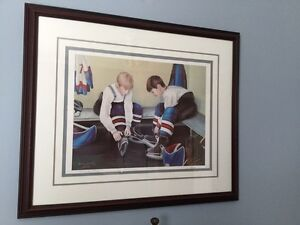 "NL artist Dawn Baker framed art ""Teammates"" ($160 value) St. John's Newfoundland image 3"