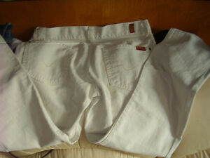 7 For All Mankind Jeans New Made in Italy Rare White