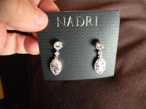 Nadri Bridal Tear Drop Earings