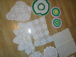 Crocheted Doilies and Runners for sale