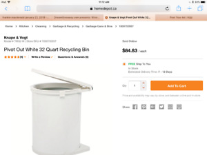 Price drop-Under counter pivot recycling trash can