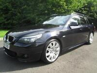10/10 BMW 520D M SPORT BUSINESS EDITION ESTATE IN MET BLACK WITH SERVICE HISTORY