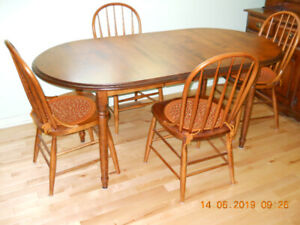 Solid Maple Dining Set and Hutch