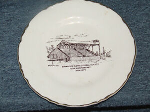 Collector's plate, 125th ann. of Binbrook Agricultural Society