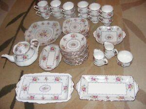 ROYAL ALBERTA PETIT POINT CHINA TEA SET