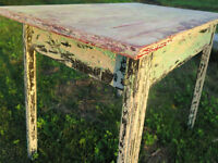 As Found Amazingly Distressed Farm House Table