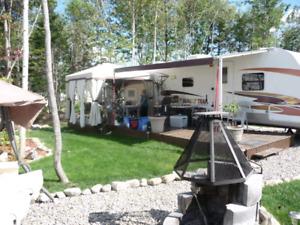 roulotte et set up camping atlantide