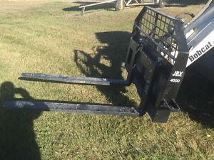 """48"""" Skid Steer Pallet Forks  - JBX MADE IN USA"""