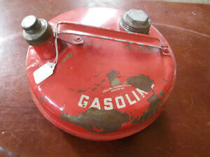Old metal gas can