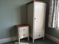 Child's Shaker Style Wardrobe and matching Bedside Table