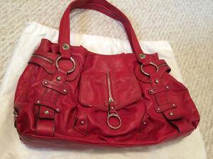 Large red Kathy Van Zeeland purse