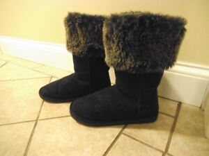 GIRLS BLACK JOE FRESH BOOTS SIZE 6