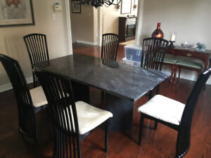 Dining room Marble Table and Chairs