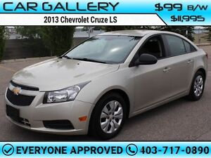 2013 Chevrolet Cruze LS $99B/W YOU'RE APPROVED-QUICK  EASY FINAN