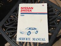 Brassière et manuel de service pour Nissan 240SX 1989-1990