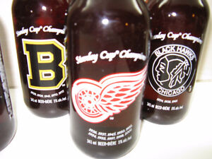 *** LABATT BEER HOCKEY BOTTLES ~ NHL Original 6 Teams ~ Canadian