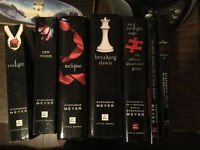 Seven twilight saga novels and five movies