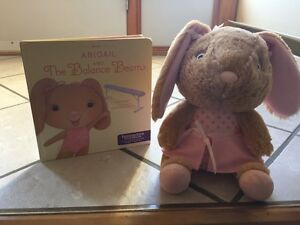Abigail and The Balamce Beam book and Bunny