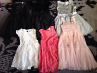 Bundle of girls party dresses